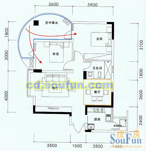 二环边 浅水半岛精装套二 位置安静适合居家 房东诚心出售