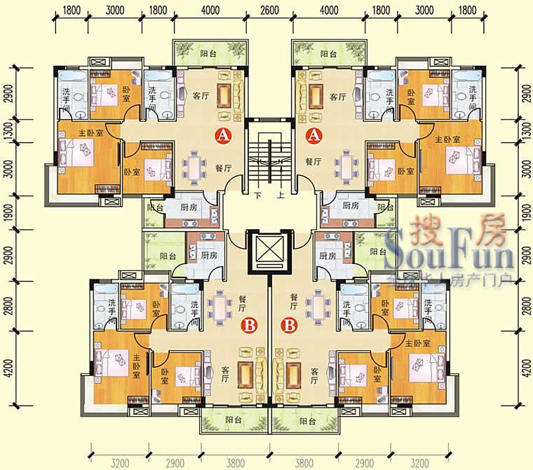 推推99惠州房产网秋谷阳光园户型图