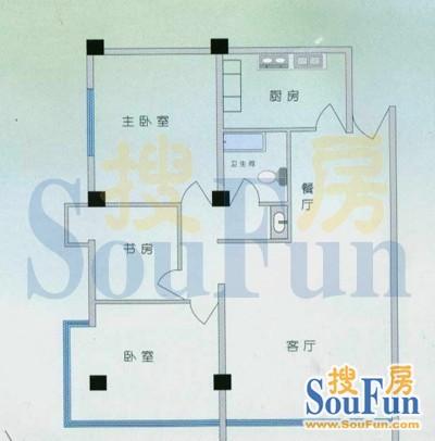 推推99昆明房产网东寺公寓户型图