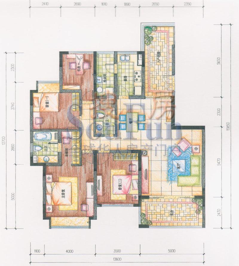 推推99珠海房产网仁恒星园户型图