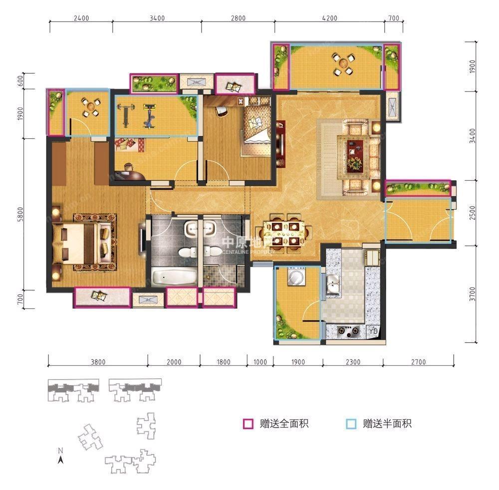 汇锦城房源图片