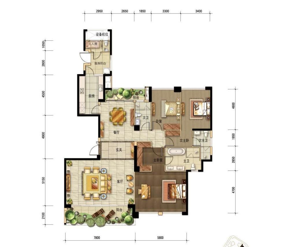 新房九龙仓擎天半岛240平3室2厅4卫2阳台有_成都二手