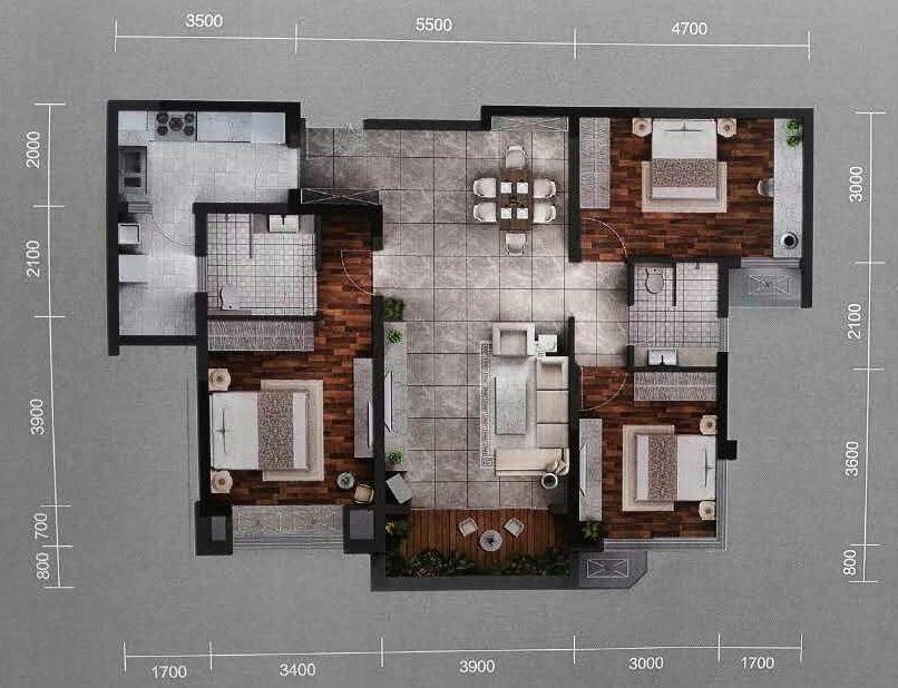 推推99房产网融创观玺台在售新房房源图片