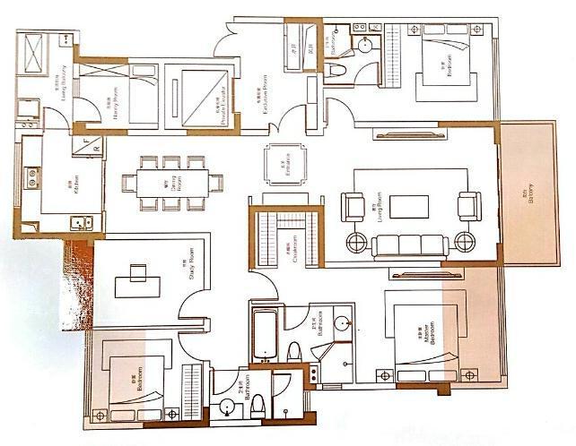 蓝光雍锦世家+套四双卫+176平米 +有装修交房