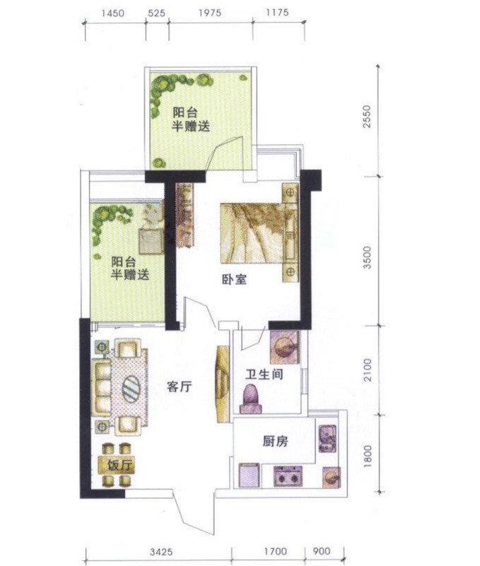 成都锦江城市花园二期户型图