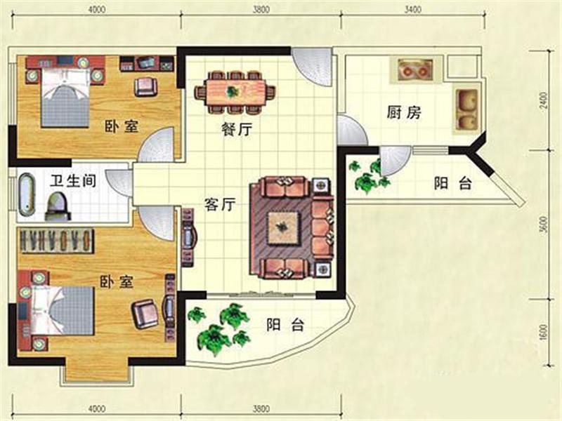 惠州园洲花园户型图