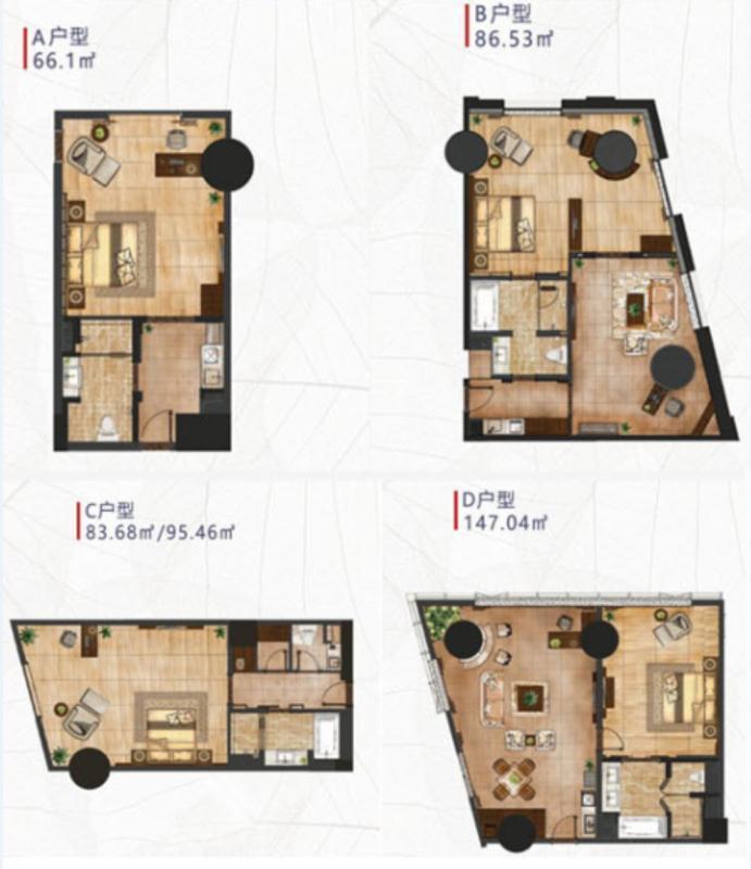推推99房产网同方丽致公寓在售新房房源图片