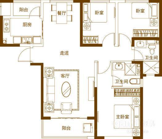 推推99房产网大唐印象在售新房房源图片