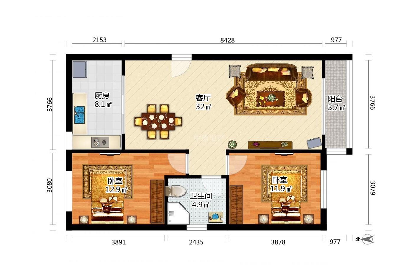 推推99天津房产网枫桦园户型图