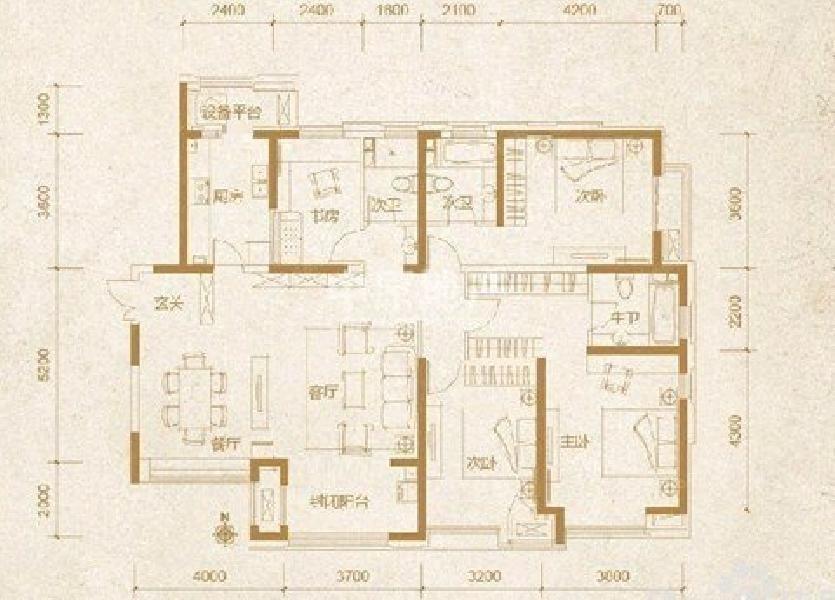 天津云锦世家(北区)户型图